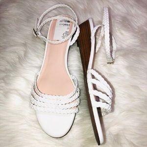 Kate Spade Braided White Sandals 10